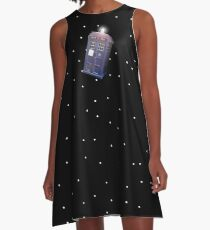 Police Box in Outerspace. A-Line Dress