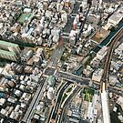 Japan - Streets of Tokyo From Above by visualspectrum