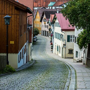Medieval Cobblestone Street - Fussen - Bavaria, Germany by ultimateplaces