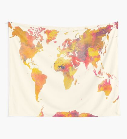 world map 37 Wall Tapestry