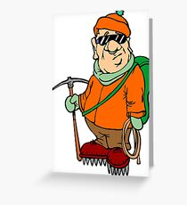 Funny Mountain Ice Climbing Greeting Card