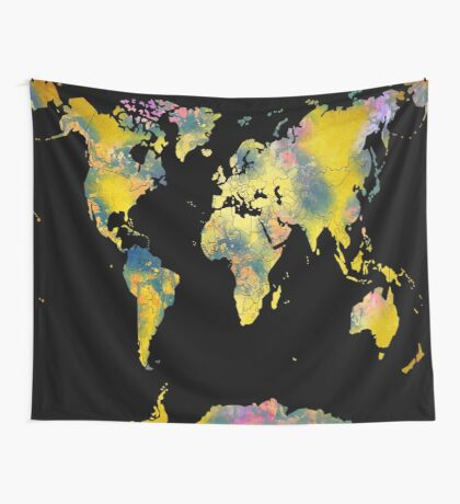 world map 36 Wall Tapestry