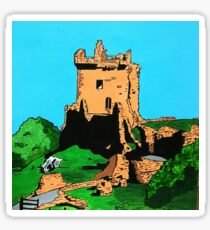 Urquhart Castle Loch Ness Abstract Sticker