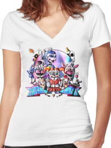 Circus Baby's Women's Fitted V-Neck T-Shirt