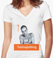 TRAINSPOTTING - RENTON Women's Fitted V-Neck T-Shirt