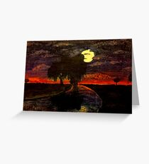 Sunset Willow Greeting Card