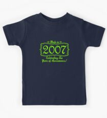 Made in 2007 Ten Years of Awesomeness 10th Birthday Kids Clothes