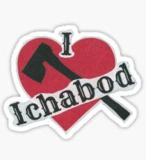 I Love Ichabod by VampireLily Sticker