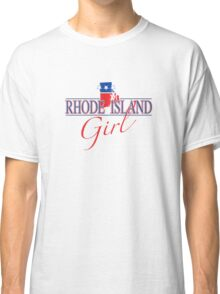 Rhode Island Girl - Red, White & Blue Graphic Classic T-Shirt