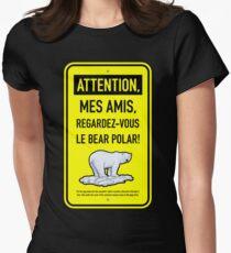 le bear polar sign/lemon Womens Fitted T-Shirt