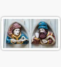 Last Judgement Sculptures - Minster - Bern Sticker