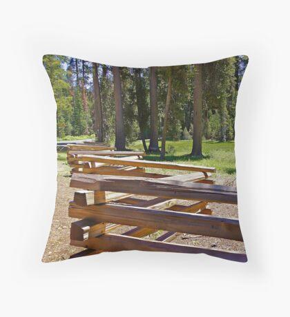 Zig - Zag fencing Throw Pillow