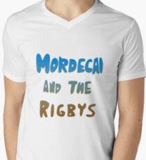 Mordecai and the Rigbys Men's V-Neck T-Shirt