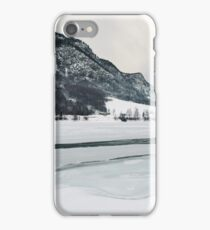 Frozen Lake in Snow-Covered Norwegian Winter Landscape iPhone Case/Skin