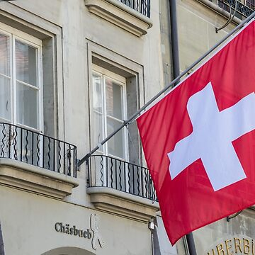 Switzerland (Swiss) Flag in Old City of Bern   by ultimateplaces