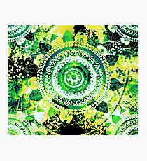 LEMON LIME MANDALA Photographic Print
