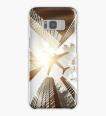 airplane in new york city Samsung Galaxy Case/Skin