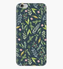 Floral blaues Muster. Aquarell iPhone-Hülle & Cover
