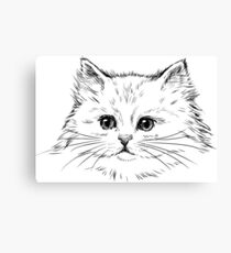Thick Black Pelted Feline Canvas Print