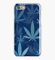 Marijuana Cannabis Weed Pot Dark Blue iPhone Case/Skin