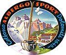 Colfosco Albergo Sport Dolomiti Hotel Italy Vintage Travel by hilda74