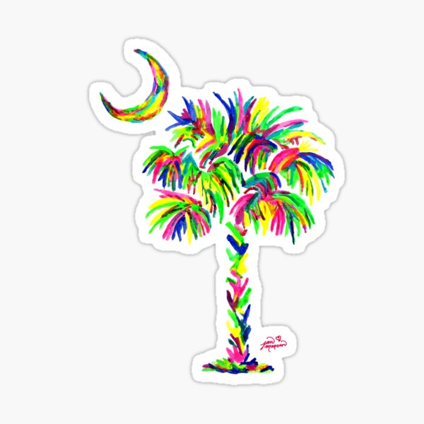 South Carolina is Simply Amazing Palm Tree Sticker