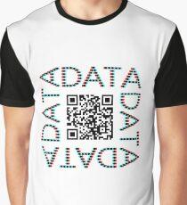 Punchcard data (QR, 3D) Graphic T-Shirt