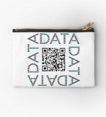 Punchcard data (QR, 3D) Studio Pouch