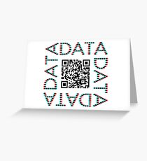 Punchcard data (QR, 3D) Greeting Card