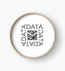 Punchcard data (QR, 3D) Clock