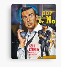 James Bond Sean Connery painting Canvas Print