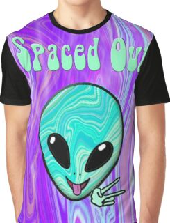 Spaced Out Psychedelic Alien Graphic T-Shirt