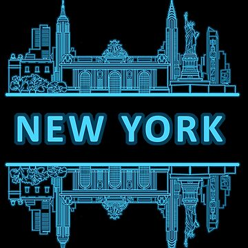 New York - Blue by InitialSeven