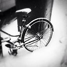 bicycle in the snow by ShellyKay