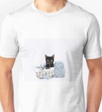 Kitten in Yarn Basket T-Shirt