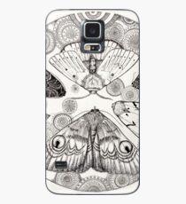 moth mandala Case/Skin for Samsung Galaxy