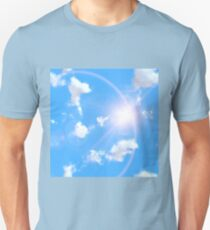 Blue sky with clouds T-Shirt