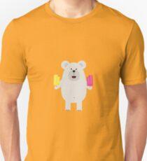 Polar Bear with icecream Unisex T-Shirt