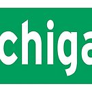 Michigan Ave. North Street Sign  by Rich Anderson
