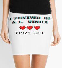 I survived the A.I. winter (8-bit 3D) Mini Skirt