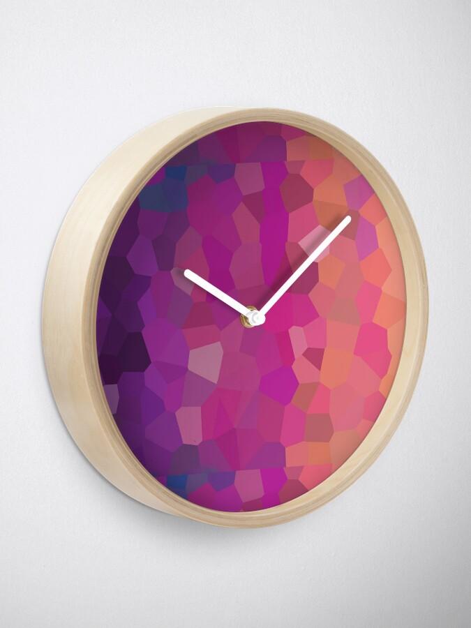 Alternative Ansicht von Buntglas-Zusammenfassung Uhr