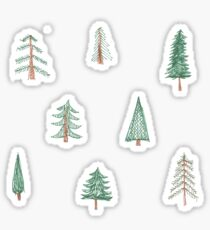 evergreen tree pattern Sticker