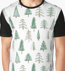 evergreen tree pattern Graphic T-Shirt