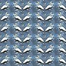 White Swans Magical Blue Sparkle Design by Melissa Park