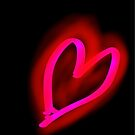 Glowing Pink-Red Valentine Heart by DrDetective .