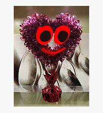 Glittery Heart Guy Photographic Print