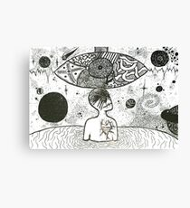 Psychedelic Unknown (white) Canvas Print