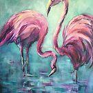 Pink flamingos by Ivana Pinaffo