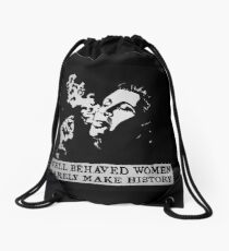 Carrie Fisher Drawstring Bag