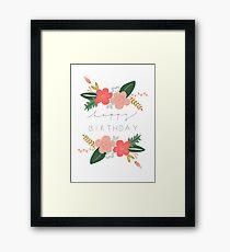 Fiona Happy Birthday/Greetings Card Framed Print